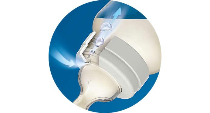 Ventilační systém Airflex prokazatelně snižuje riziko koliky*