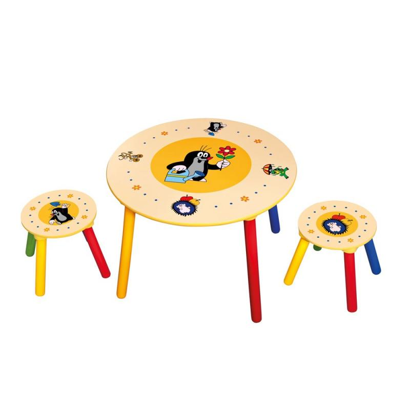 Bino Dětský stolek, 2 sedátka Krteček