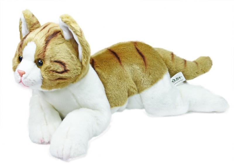 Rappa plyšová kočka ležící, 36 cm