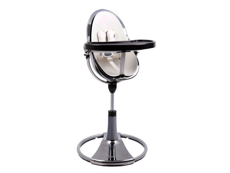 Jídelní židlička Bloom Fresco Chrome rtuťová, bez podložky