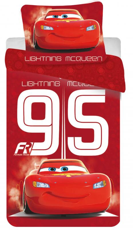 Jerry Fabrics Bavlněné povlečení Cars 95 red 140x200 cm