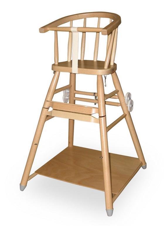 Jídelní židlička L. A. Bernkop Sandra - rozkládací 331710 - bílá
