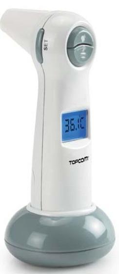 Topcom Digitální infračervený teploměr ušní/čelní 501