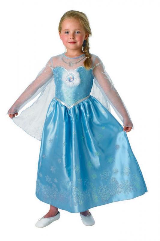 Karnevalový kostým FROZEN - Ledové království Elsa DELUXE, 3-4 roky