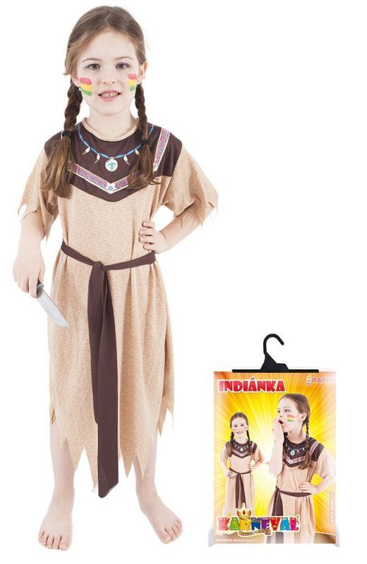 Karnevalový kostým indiánka, vel. S