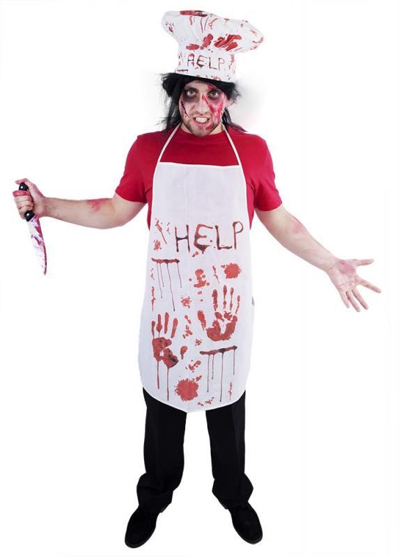 Karnevalový kostým krvavý kuchař pro dospělé