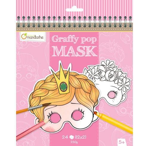 Avenue Mandarine, Karnevalové masky k vymalování pro holky