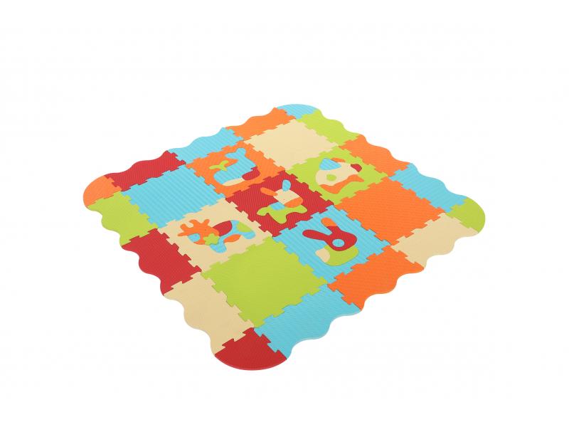 Ludi Puzzle pěnové 120x120 cm Zvířátka