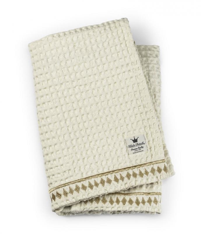 Elodie Details bavlněná deka se strukturou vafle Vanilla White