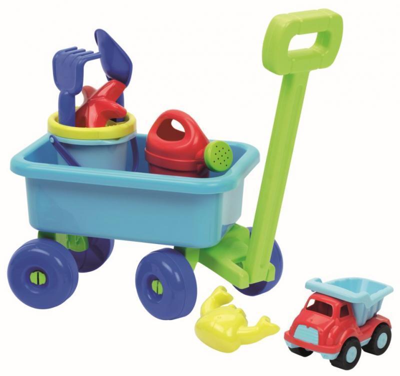 Ecoiffier Vozík s konvičkou a setem na písek