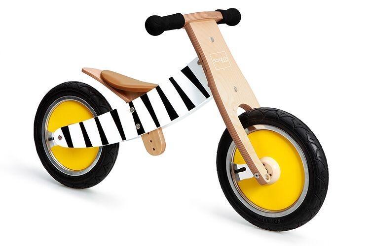 Scratch Dřevěné odrážedlo Zebra 2v1