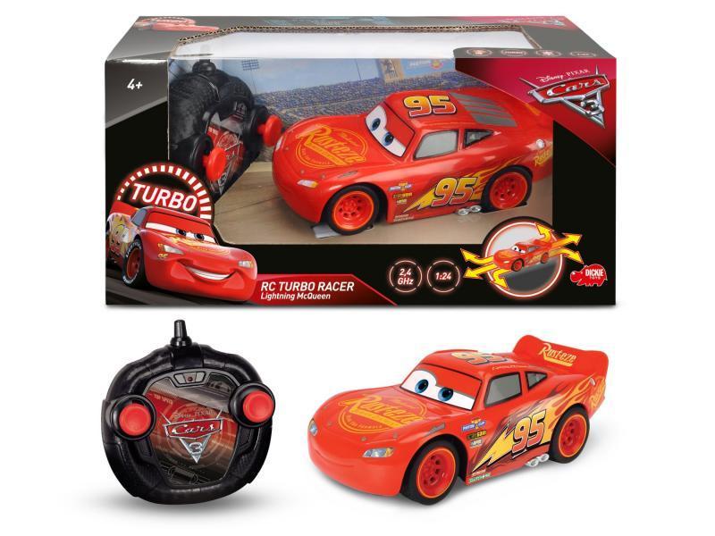 Dickie RC Cars 3 Turbo Racer Blesk McQueen 1:24, 17cm, 2kan