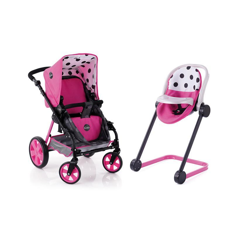 Hauck Set Icoo kočárek, autosedačka pro panenky růžový