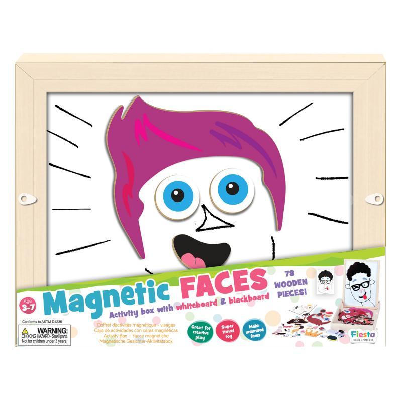 Fiesta Crafts Magnetická mozaika - Obličeje