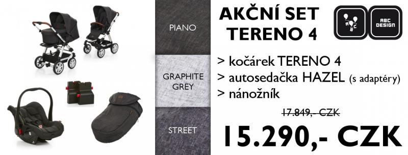Kočárek ABC Design Set Tereno 4 2018 - piano
