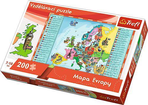 Trefl puzzle Mapa Evropy 200 dílků