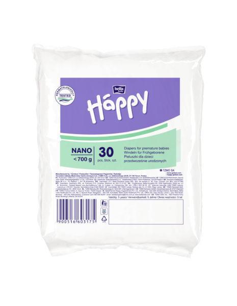 Bella Happy Nano 30 ks - jednorázové pleny