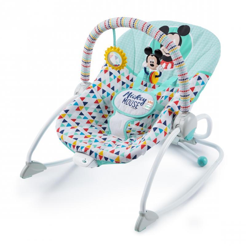 Disney baby Houpátko vibrující Mickey Mouse Happy triangles, do 18 kg, 0m+