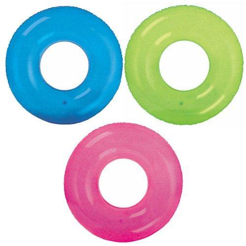 Intex nafukovací kruh transparent 76 cm - růžová