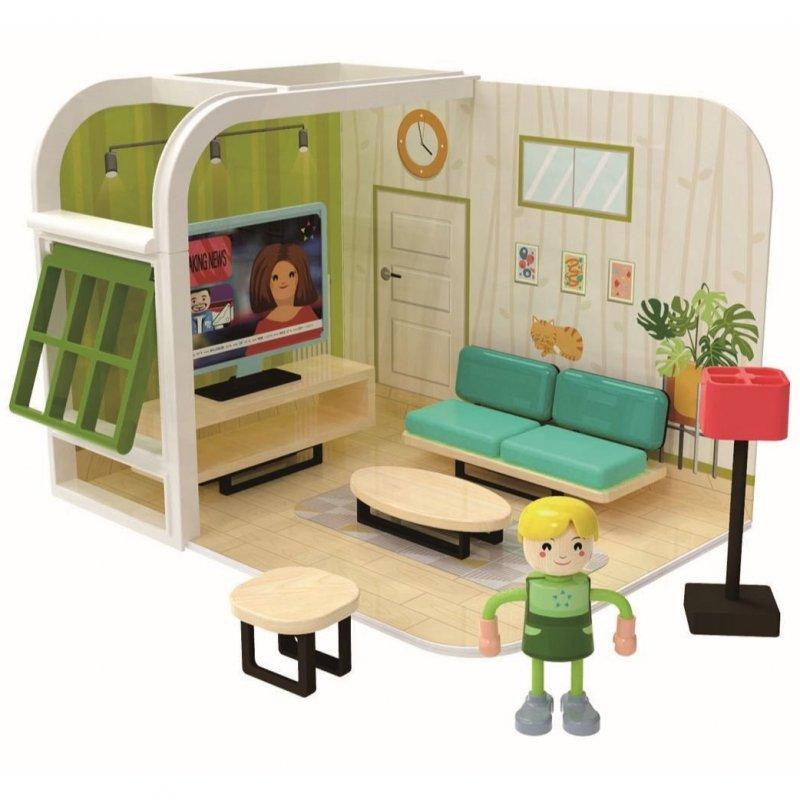 Jouéco Hrací set obývací pokoj 36m+