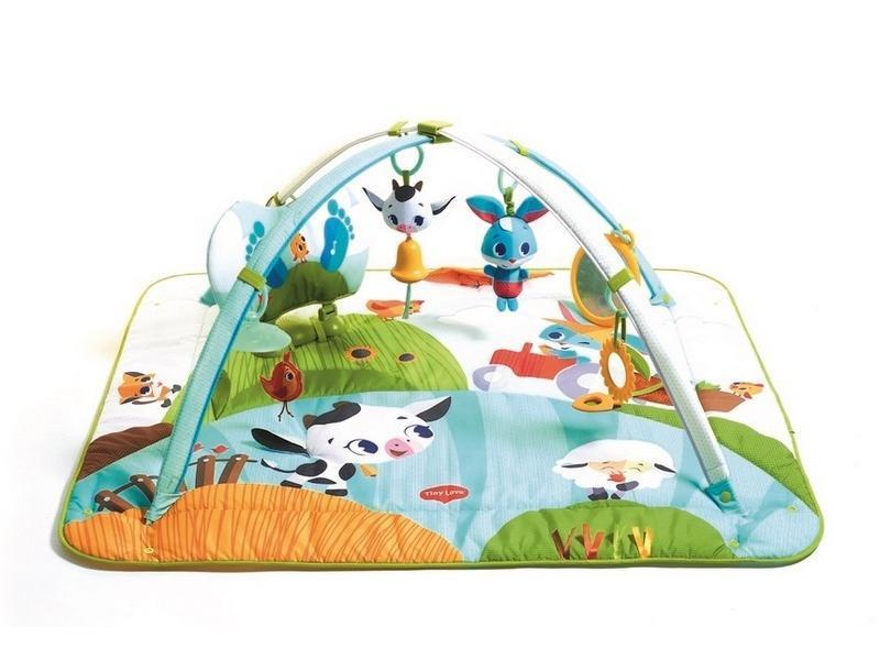 Tiny Love Hrací deka s hrazdou Gymini Kick & Play Tiny Farm