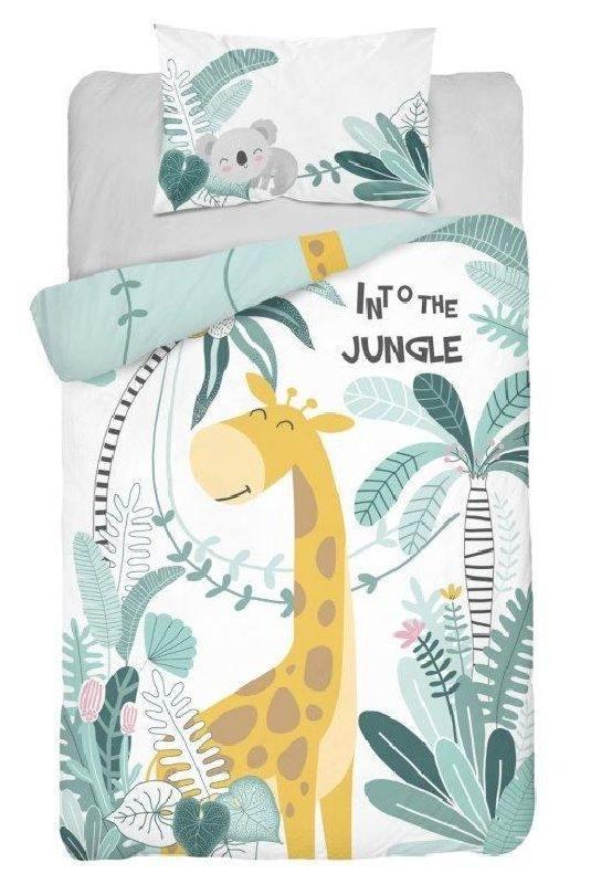 Detexpol bambusové povlečení do postýlky Žirafa Jungle 135x100 cm