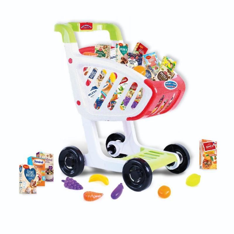 Rappa Detský nákupný vozík s českým tovarom