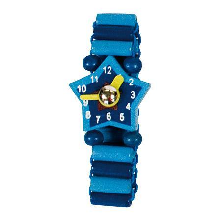 Bino Dřevěné hodinky modré