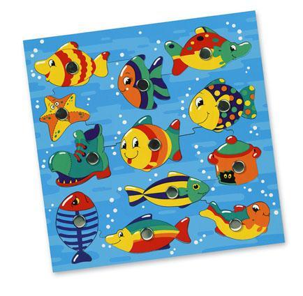 Bino Rybičky ve vodě, magnetická hra, s udičkou