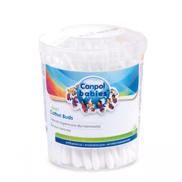 Canpol babies vatové tyčinky v dóze 100 ks