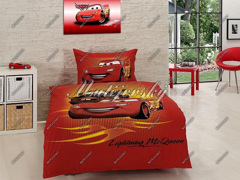 Bavlněné ložní povlečení Matějovský Cars McQueen140x200 cm
