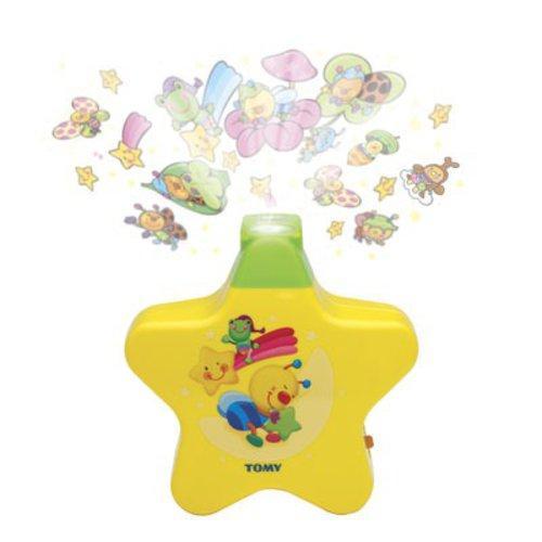 TFY - Hudební projektor s melodiemi hvězda - žlutá