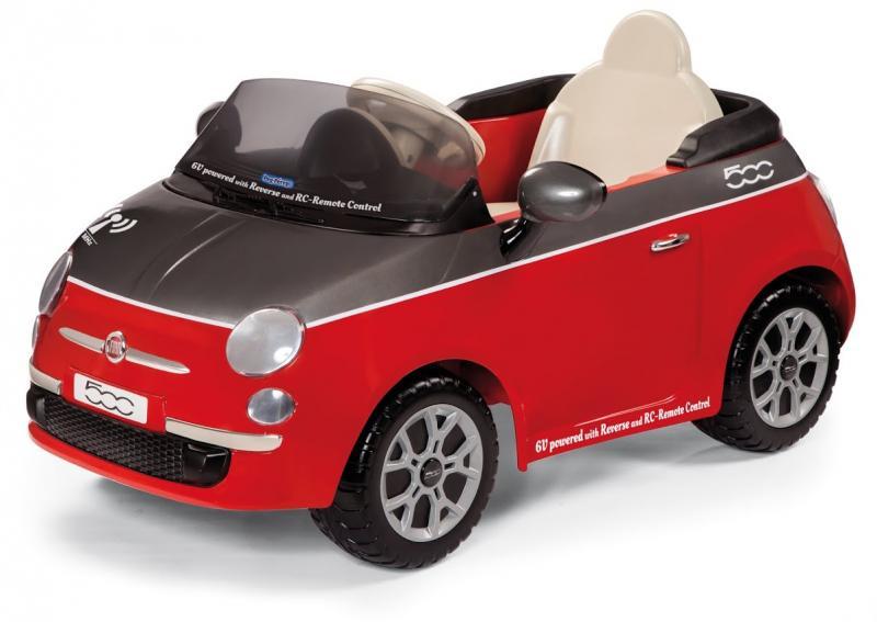 Elektrické vozítko Peg Pérego Fiat 500 Red s dálkovým ovládáním