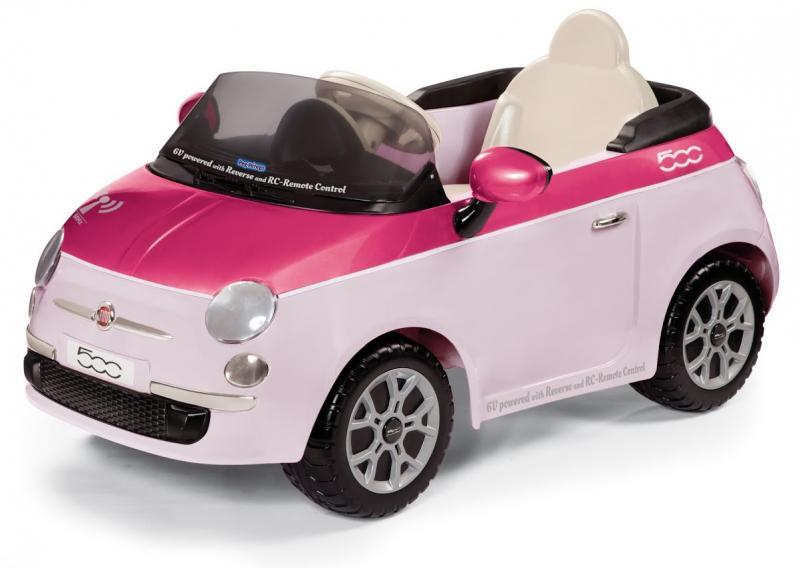 Elektrické vozítko Peg Pérego Fiat 500 Pink s dálkovým ovládáním