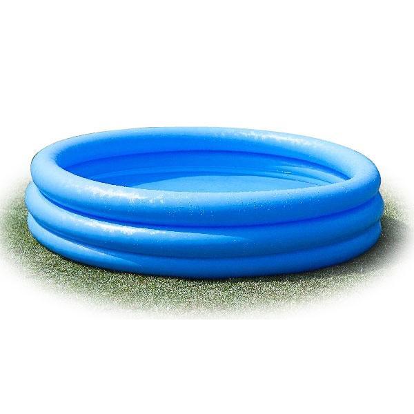 INTEX Nafukovací bazén modrý, 3 komory, 114 x 25 cm