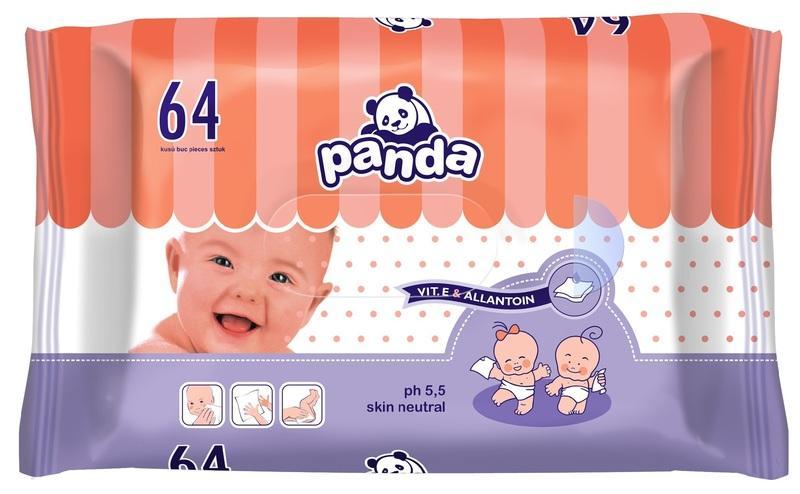 Panda Vlhčené ubrousky 64 ks