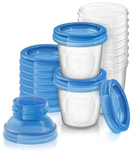 Avent VIA zásobníky na mateřské mléko - 10 ks