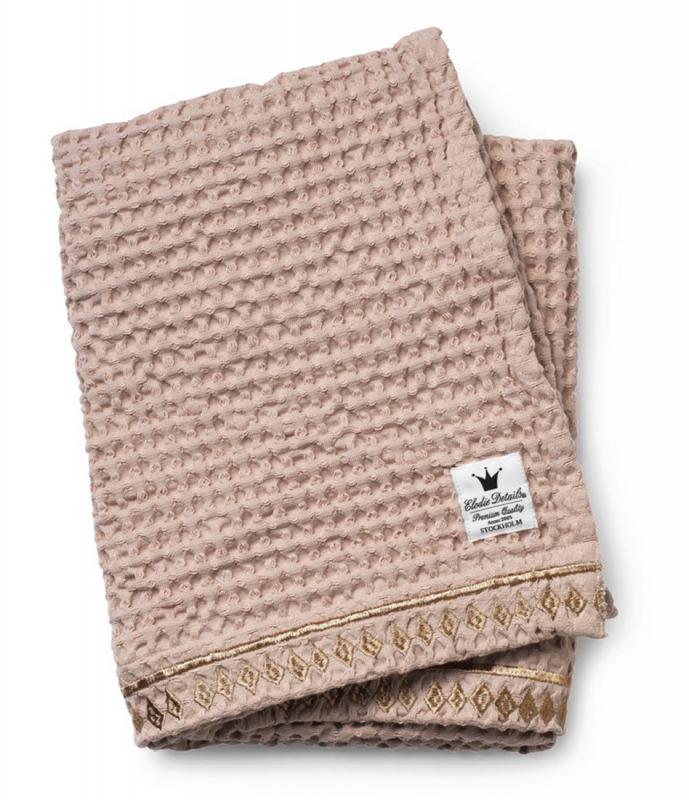 Elodie Details bavlněná deka se strukturou vafle Gilded Powder