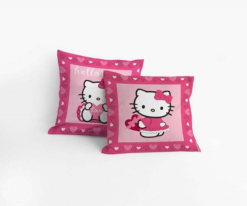 Matějovský povlak na polštářek Hello Kitty Moulin rouge 40x40 cm