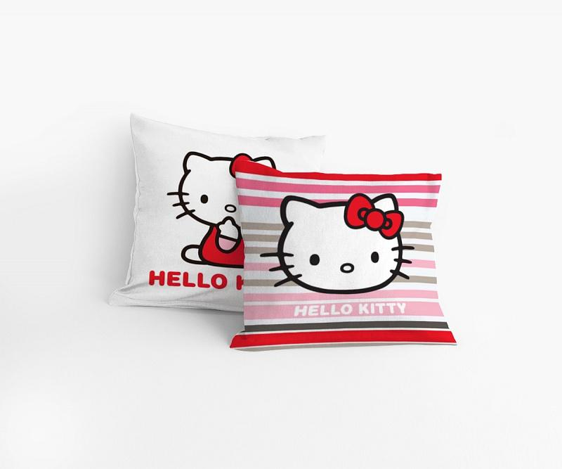 Matějovský povlak na polštářek Hello Kitty Stripe 40x40 cm