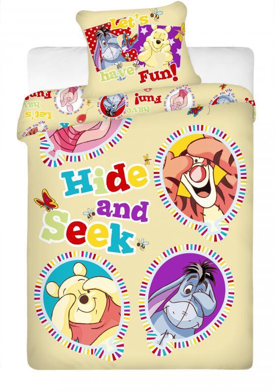 Jerry Fabrics Bavlněné povlečení Medvídek Pú WTP balloon 140x200 cm