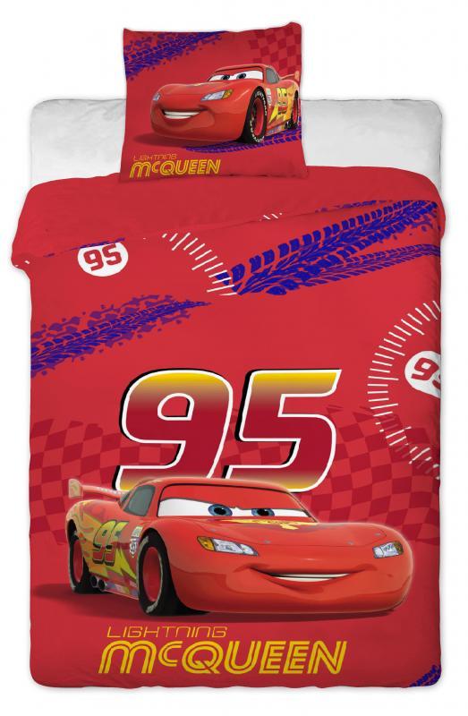 Jerry Fabrics Bavlněné povlečení Cars Mc Queen 140x200 cm