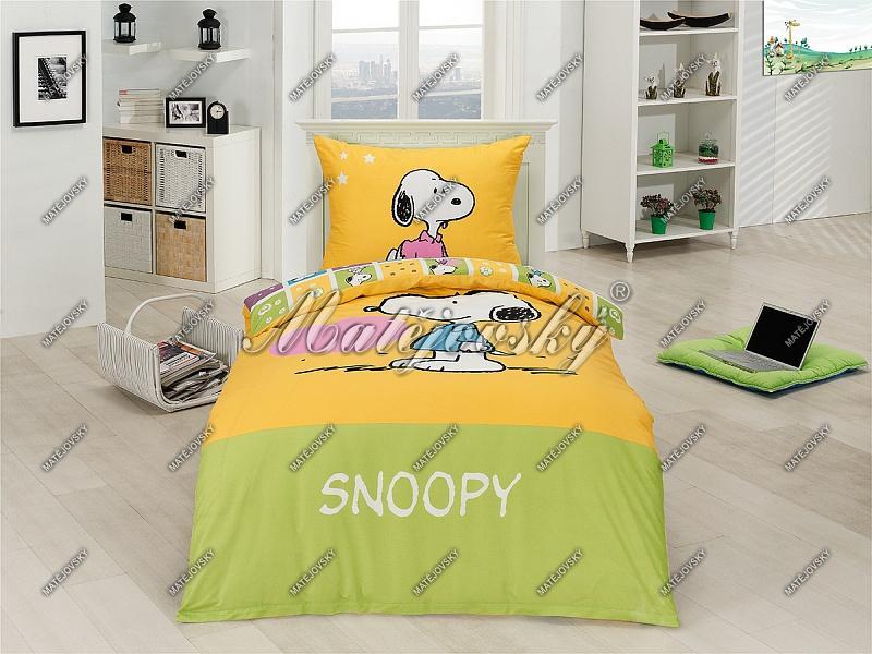 Matějovský Bavlněné povlečení Snoopy Heart 140x200 cm