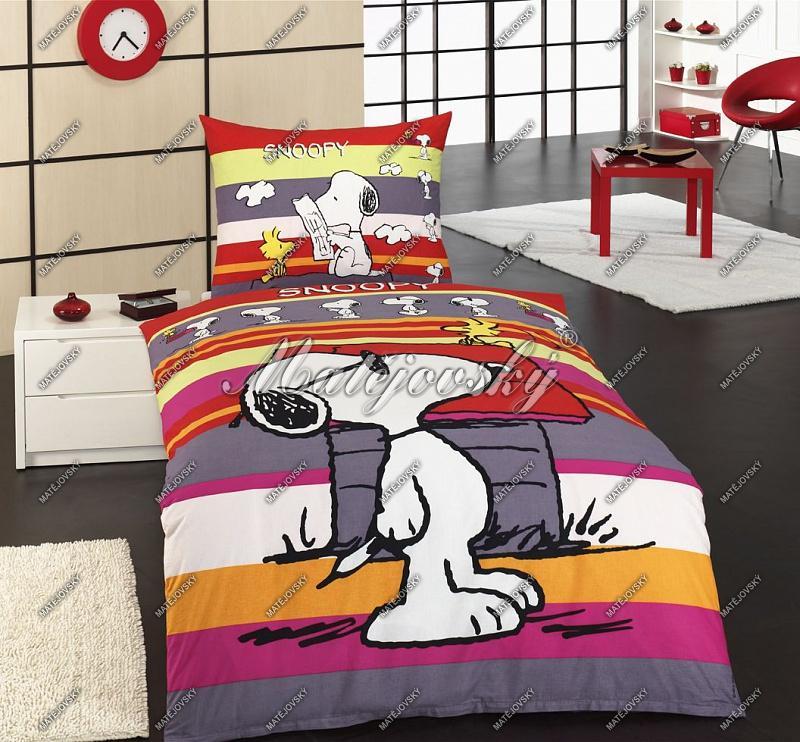 Matějovský Bavlněné povlečení Snoopy Promenade 140x200 cm
