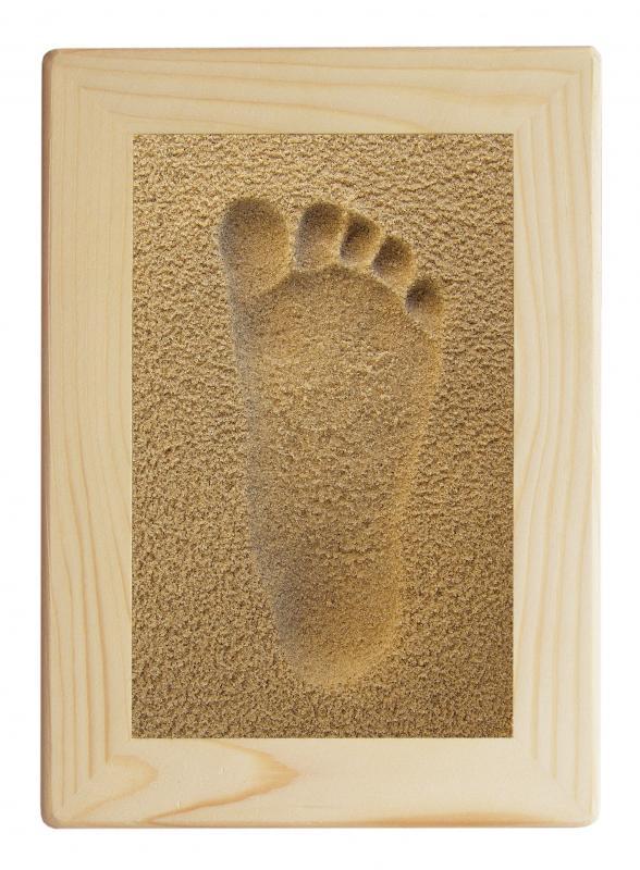 Licofun Otisk nožičky přírodní - dřevěný rám