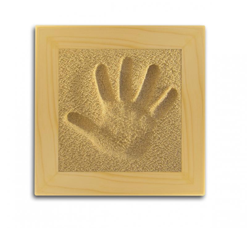 Licofun Otisk ručičky přírodní - dřevěný rám