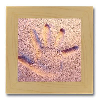 Licofun Otisk ručičky růžový - dřevěný rám