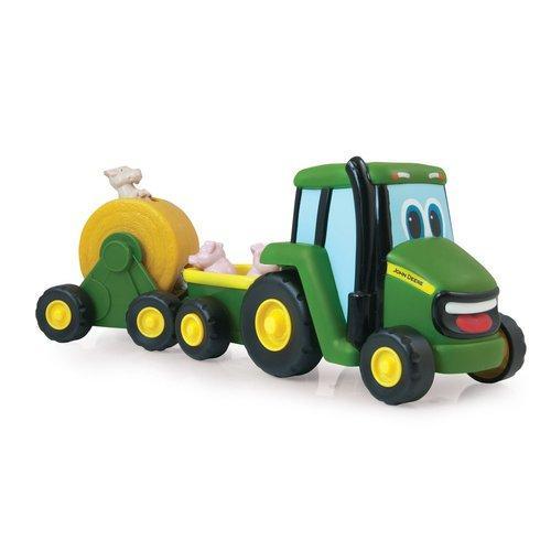 John Deere - Traktor se zemědělským vozíkem