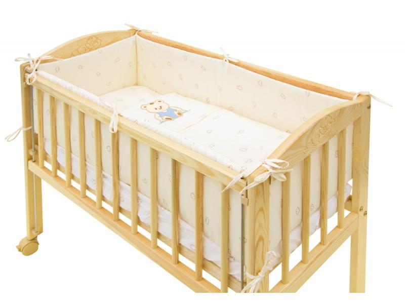 Scarlett povlečení do postýlky 7dílné Baby mini - Méďa béžový 80x80 cm