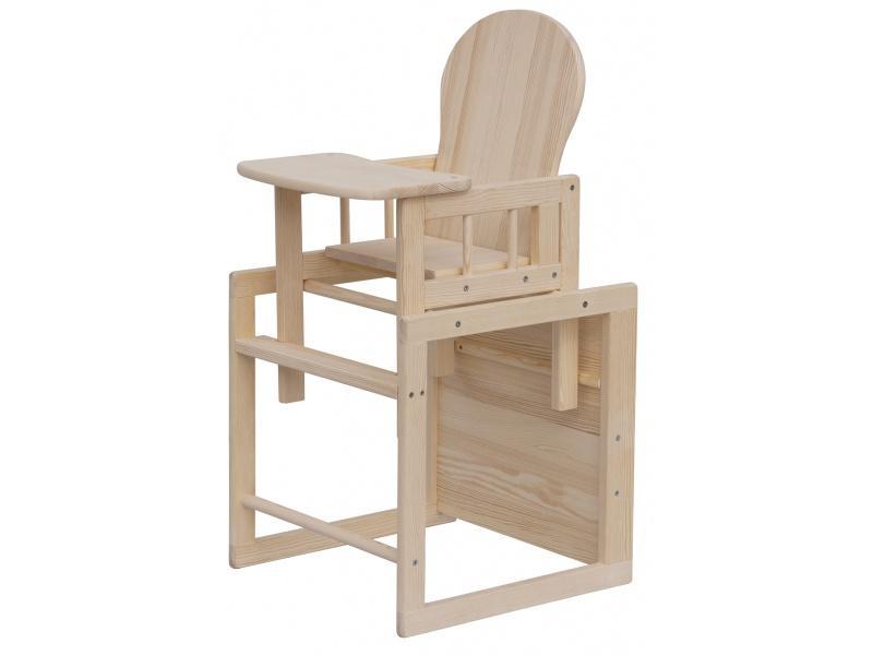 Jídelní židlička Scarlett Kombi ECO, masiv borovice - přírodní